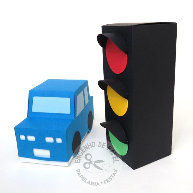 Caixa Carro e caixa semáforo