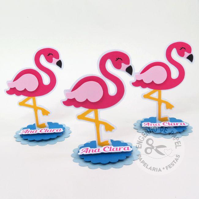 Aplique em pé - Flamingo