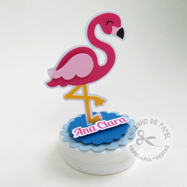 Aplique 3D - Flamingo