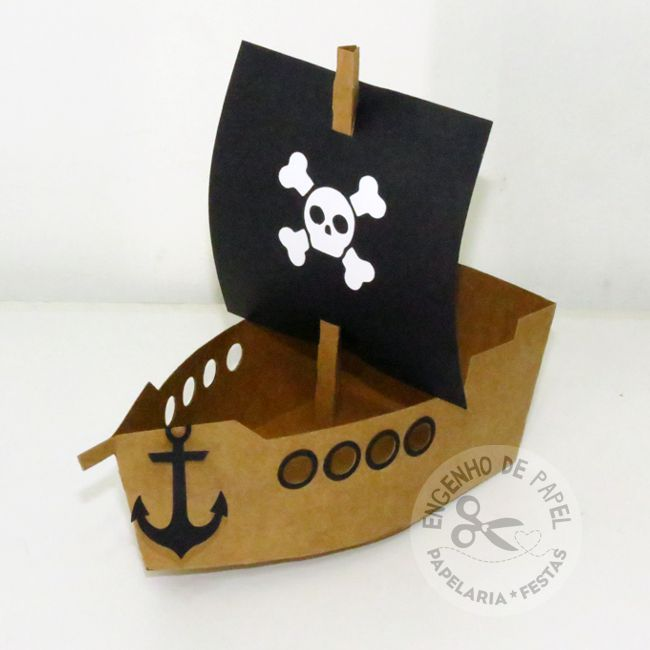 Caixa Navio Pirata
