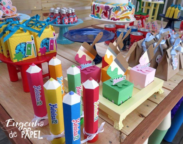 mesa 4 pintando o 7 @engenhodepapel