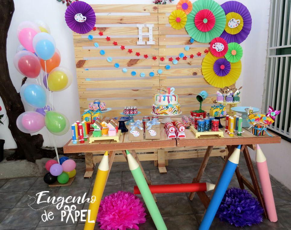 mesa pintando o 7 cores @engenhodepapel