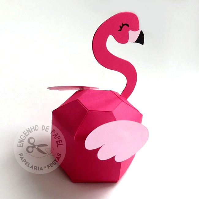 Porta bombom - Flamingo