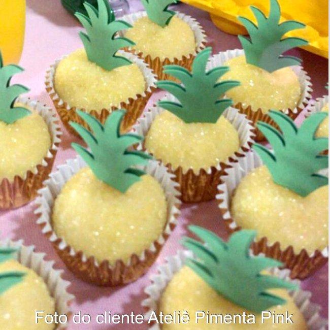 Topper coroa abacaxi